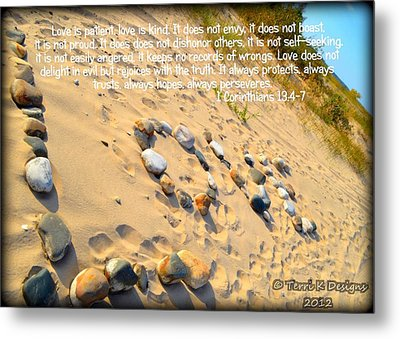 Love Metal Print by Terri K Designs