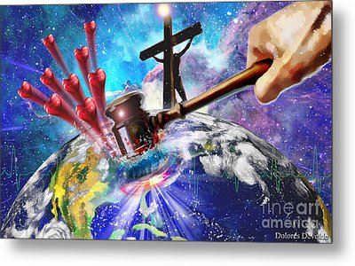 Love That Shook The World Metal Print by Dolores Develde