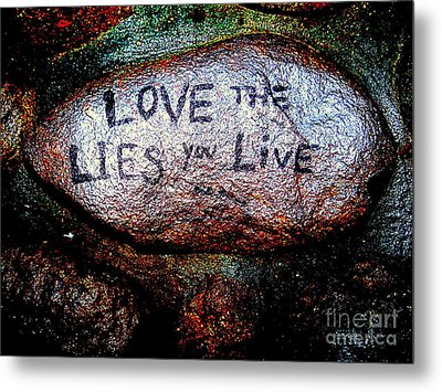 Love The Lies You Live Metal Print by Ed Weidman