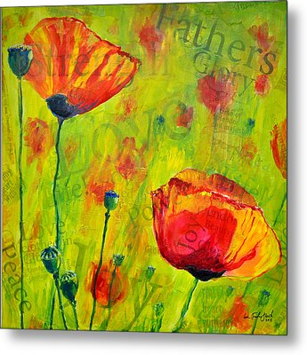 Love The Poppies Metal Print