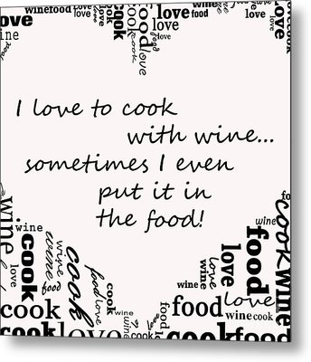 Love To Cook Metal Print by Mair Hunt