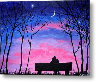 Love Under The Stars Metal Print by Amy Scholten