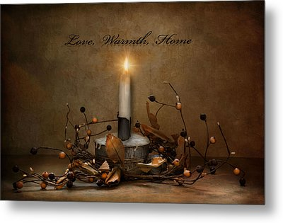 Love Warmth Home Metal Print by Robin-Lee Vieira