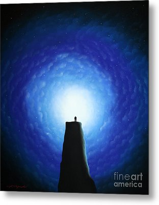 Love Will Show You The Light Metal Print by Chris Mackie