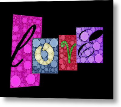 Love You Metal Print by Cindy Edwards