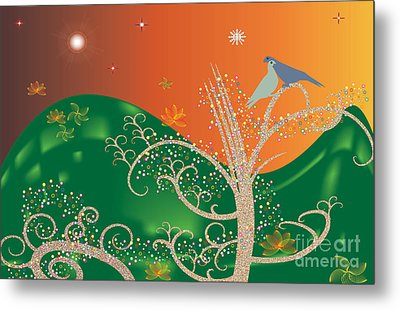 Lovebirds Metal Print by Kim Prowse