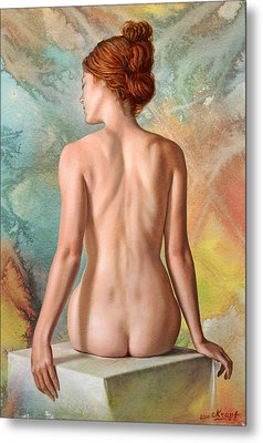 Lovely Back-becca In Abstract Metal Print by Paul Krapf