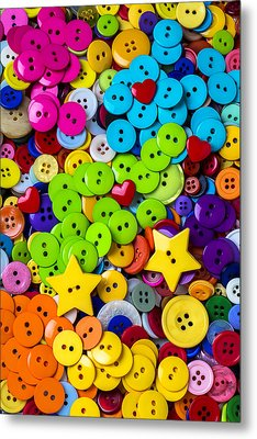 Lovely Buttons Metal Print by Garry Gay