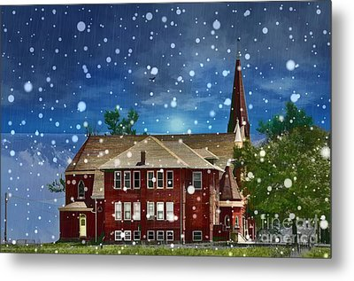 Metal Print featuring the photograph Lovely Country Church by Liane Wright