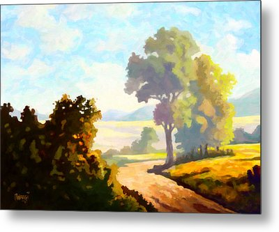 Metal Print featuring the painting Lovely Day by Anthony Mwangi