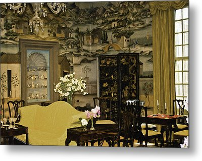 Lovely Room At Winterthur Gardens Metal Print by Trish Tritz