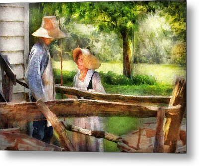 Lover - The Courtship Metal Print by Mike Savad