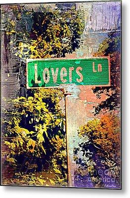 Lovers Lane Metal Print