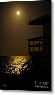 Lovers Moon Metal Print