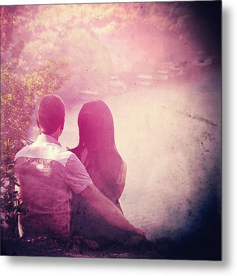 Lovestrong Metal Print by Trish Mistric