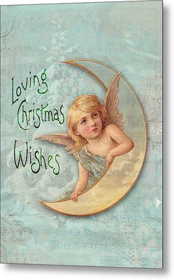 Loving Angel Wishes Metal Print by Sarah Vernon