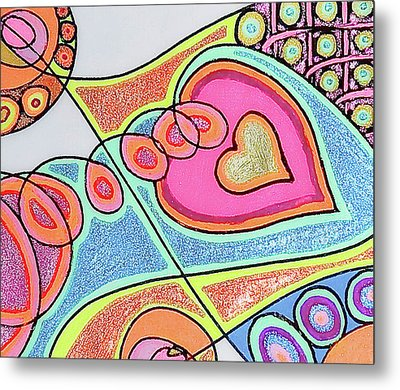Loving Heart Connection Metal Print by Sheree Kennedy