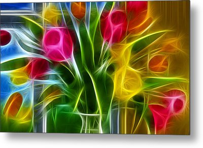 Loving Metal Print by Karen Showell