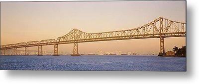 Low Angle View Of A Bridge, Bay Bridge Metal Print