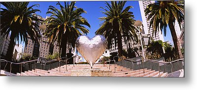 Low Angle View Of A Heart Shape Metal Print by Panoramic Images