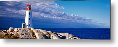 Low Angle View Of A Lighthouse, Peggys Metal Print by Panoramic Images