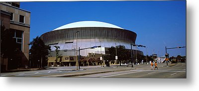 Low Angle View Of A Stadium, Louisiana Metal Print by Panoramic Images