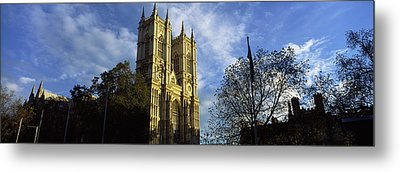 Low Angle View Of An Abbey, Westminster Metal Print