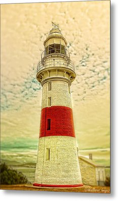 Metal Print featuring the photograph Low Head Lighthouse by Wallaroo Images