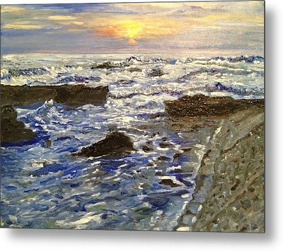 Metal Print featuring the painting I See The Light by Belinda Low