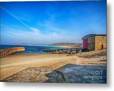Low Tide At Sennen Cove 2 Metal Print by Chris Thaxter