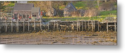 Low Tide Port Clyde Maine Metal Print by Keith Webber Jr