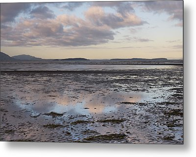Low Tide Reflections Metal Print by Priya Ghose