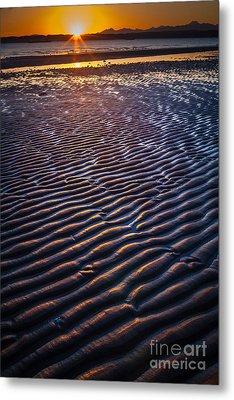 Low Tide Ripples Metal Print by Inge Johnsson