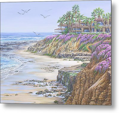 Low Tide Solana Beach Metal Print by Jane Girardot