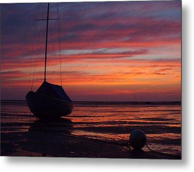 Sunrise At Low Tide Metal Print