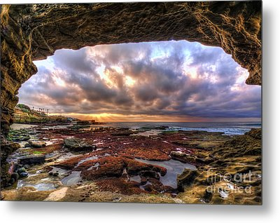 Low Tide Sunset In La Jolla Metal Print by Eddie Yerkish
