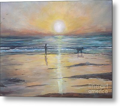Low Tide Sunset. Southern California  Metal Print by Linea App