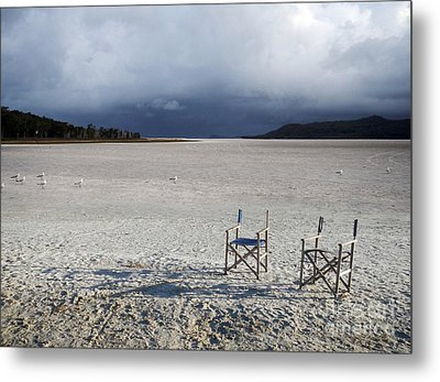 Low Tide Wonder Metal Print by Sandro Rossi