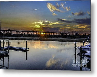 Lowcountry Marina Sunset Metal Print by Dale Powell