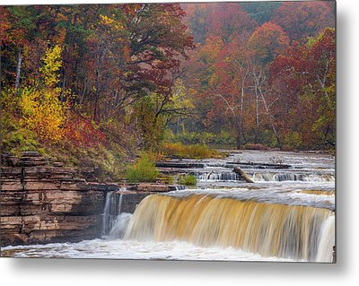 Lower Cataract Falls On Mill Creek Metal Print by Chuck Haney