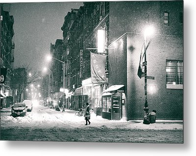 Lower East Side - Winter Night - New York City  Metal Print