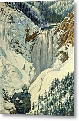 Lower Falls-april Metal Print by Paul Krapf