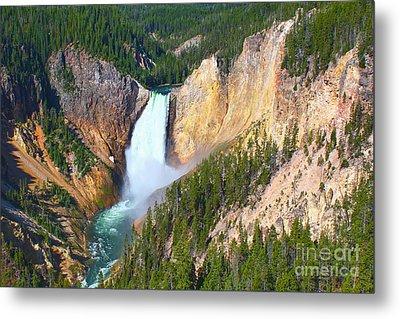 Metal Print featuring the photograph Lower Falls Yellowstone 2 by Teresa Zieba