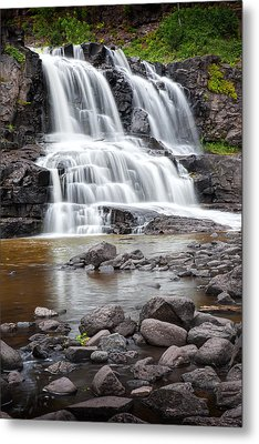 Lower Gooseberry Falls Metal Print by Randall Nyhof