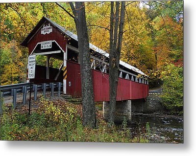 Metal Print featuring the photograph Lower Humbert Covered Bridge by Dan Myers