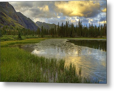 Metal Print featuring the photograph Lower Ice Lake by Alan Vance Ley