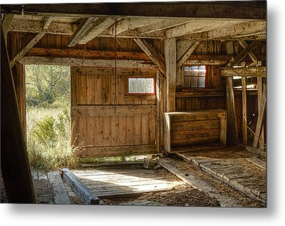 Lower Level Of The Barn Metal Print