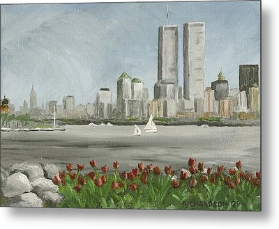 Lower Manhattan 1992 Metal Print by Susan Richardson
