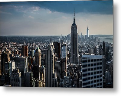 Metal Print featuring the photograph Lower Manhattan Featuring The Empire State Building by Chris McKenna