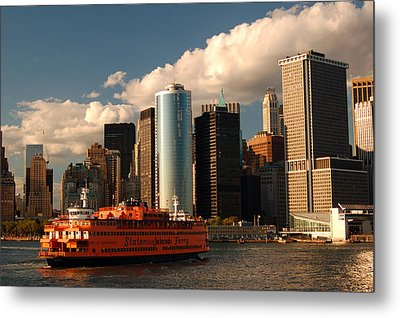 Metal Print featuring the photograph Lower Manhattan  by James Kirkikis